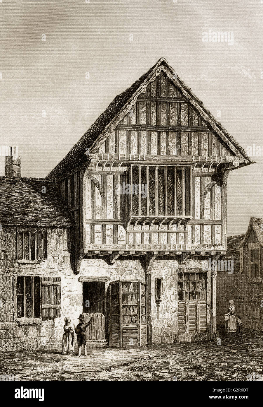 15th Century House, Leicester city, Leicestershire, England - Stock Image