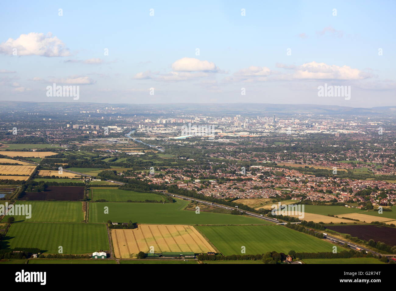 Aerial view of Manchester - Stock Image