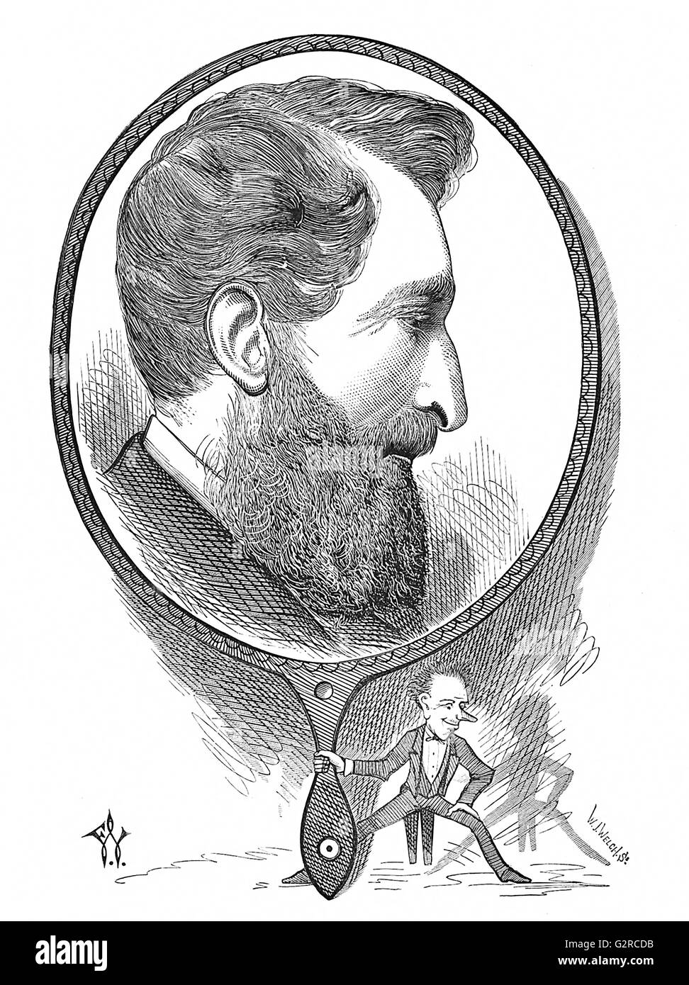 Edward Bulwer-Lytton Stock Photo