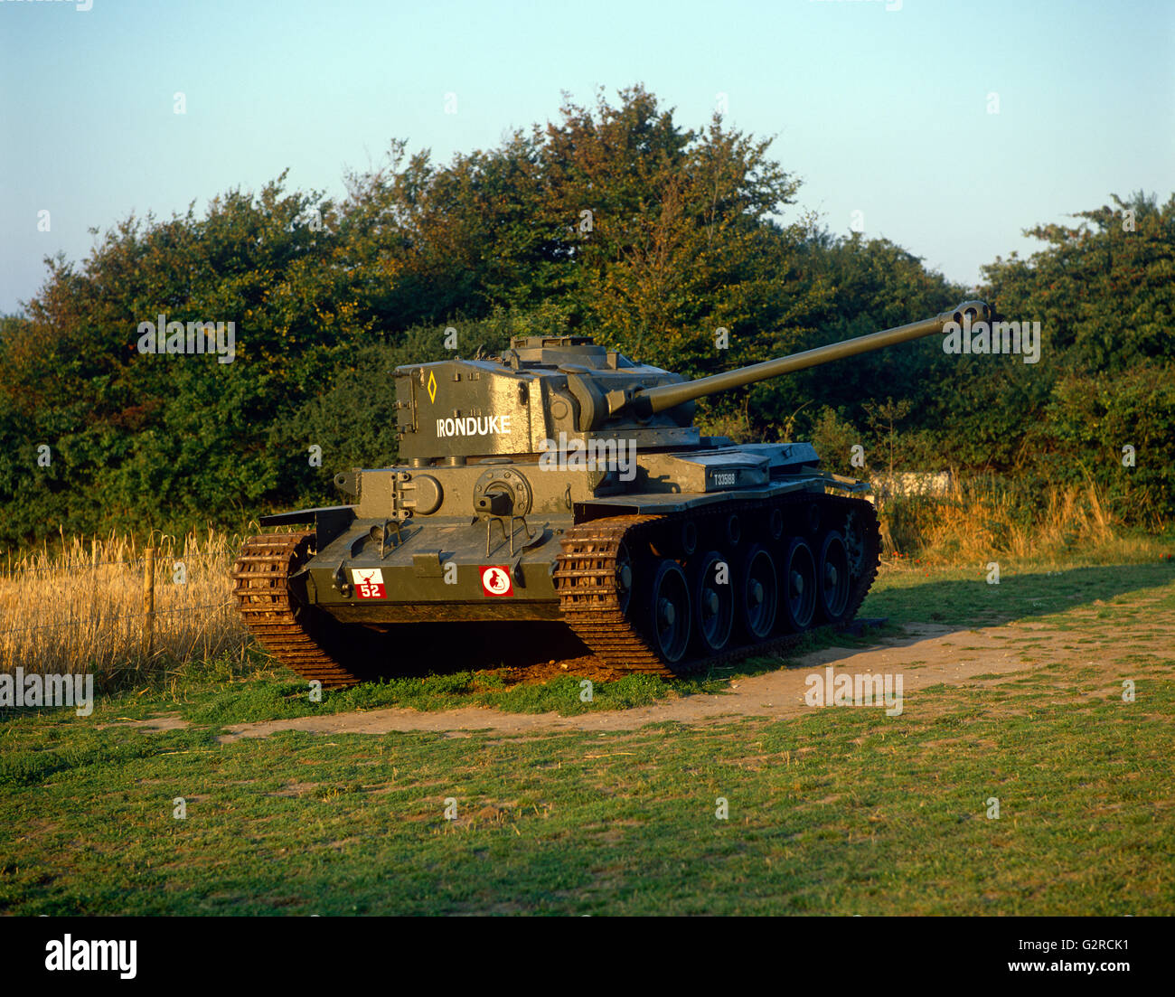A British army tank - Stock Image