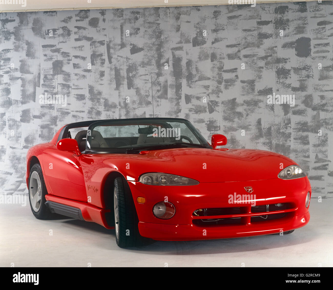 Dodge Viper in red - Stock Image
