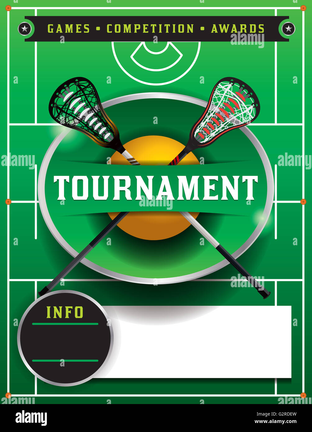 a lacrosse tournament flyer template stock photo 105007025 alamy