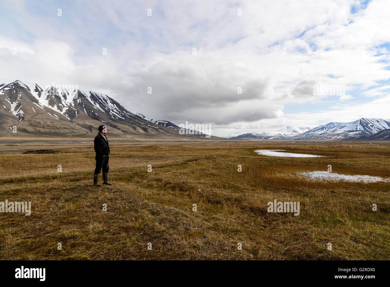 Sommer in Adventdalen auf Spitzbergen Norway Summer in Svalbard - Stock Image