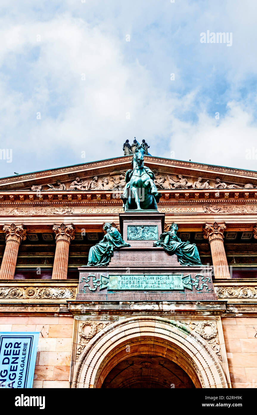 Museumsinsel Berlin, Alte Nationalgalerie, National gallery - Stock Image