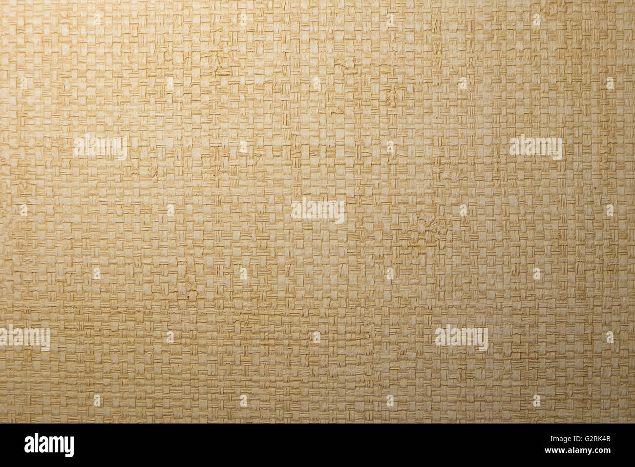 white local woven reed sedge papyrus texture wallpaper decoration. - Stock Image