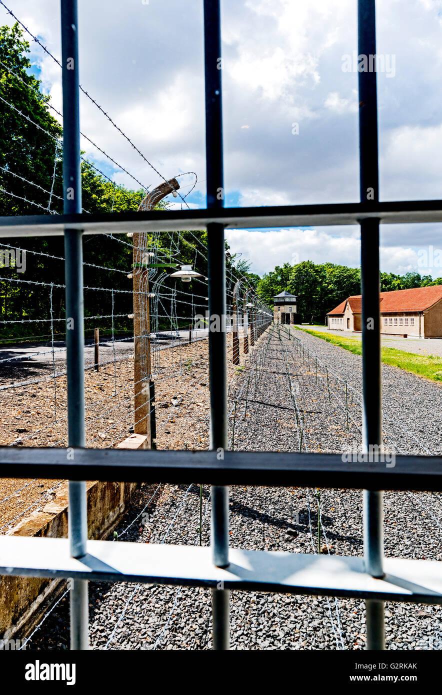 Buchenwald, Concentration Camp near Weimar; Konzentrationslager Buchenwald Stock Photo