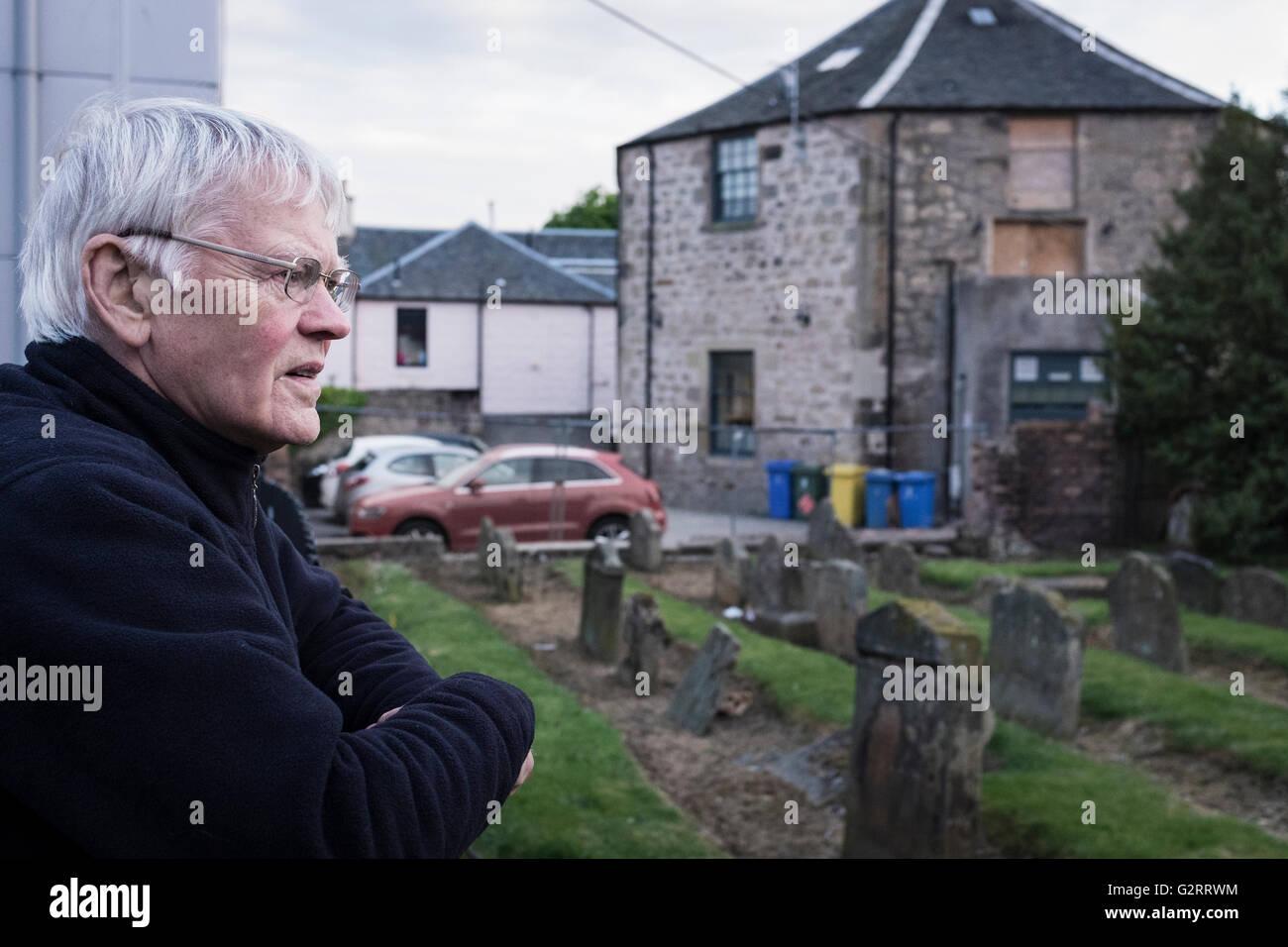 Historian Ian Scott in Falkirk - Stock Image