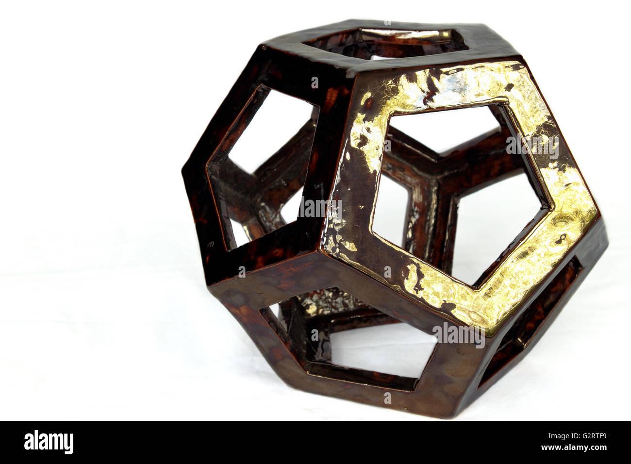 ceramic decahedron sculpture pottery stock photo 105015661 alamy