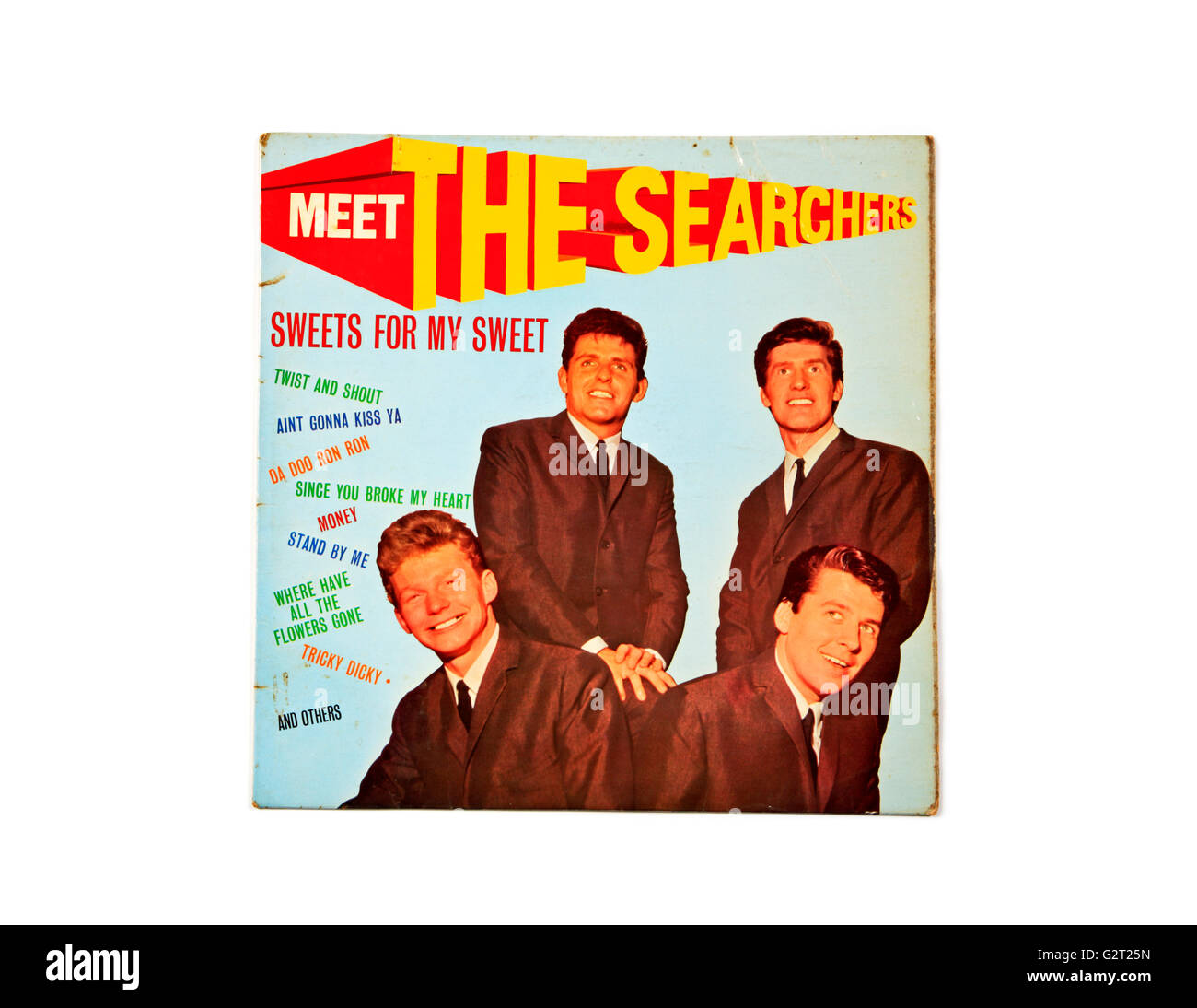 Meet The Searchers long playing record album cover - Stock Image