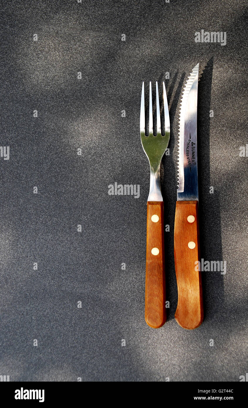 KNIFE AND FORK - Stock Image