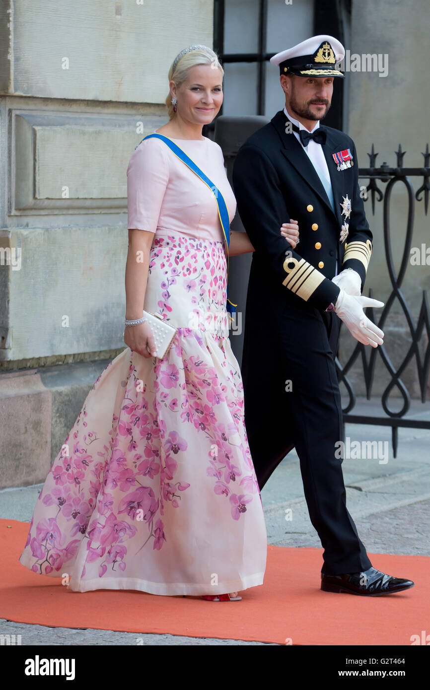 Crown Prince Haakon Crown Princess Mette Marit Of Norway At The