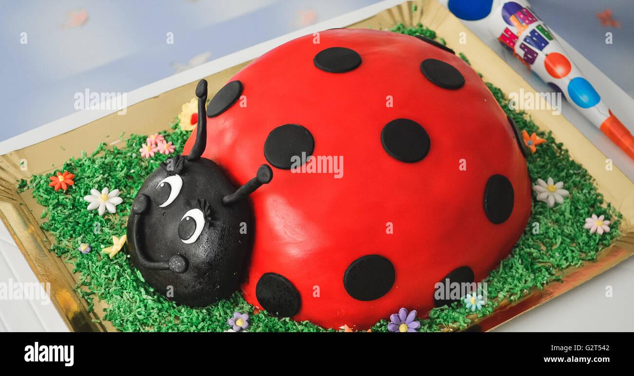 Birthday Cake Ladybird Stock Photos Birthday Cake Ladybird Stock