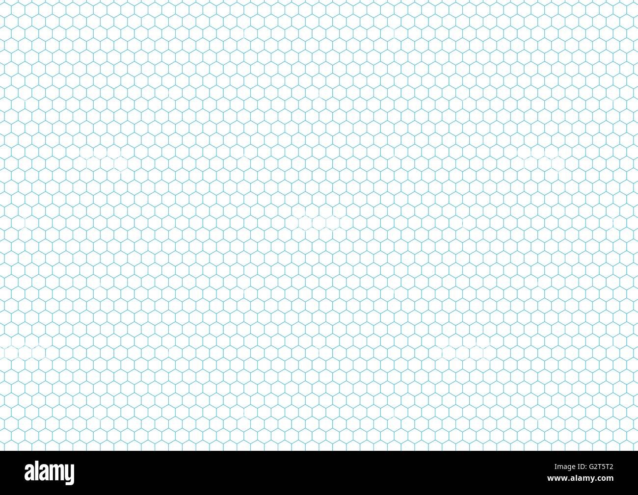 Cyan color hexagon grid, a4 size horizontal background Stock Vector ...