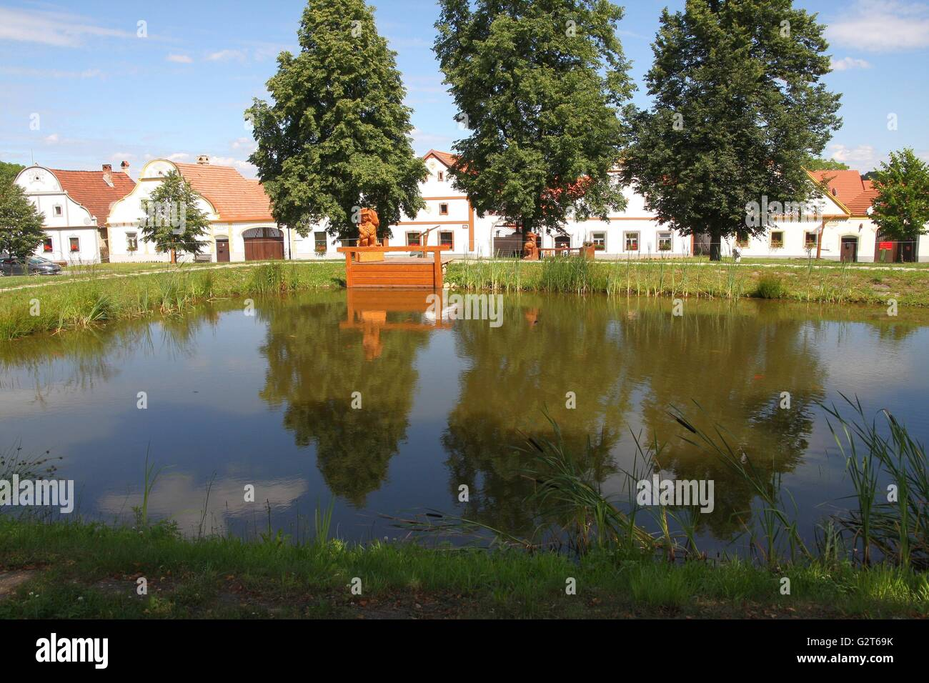Holasovice - village from the UNESCO list, Czech Republic - Stock Image