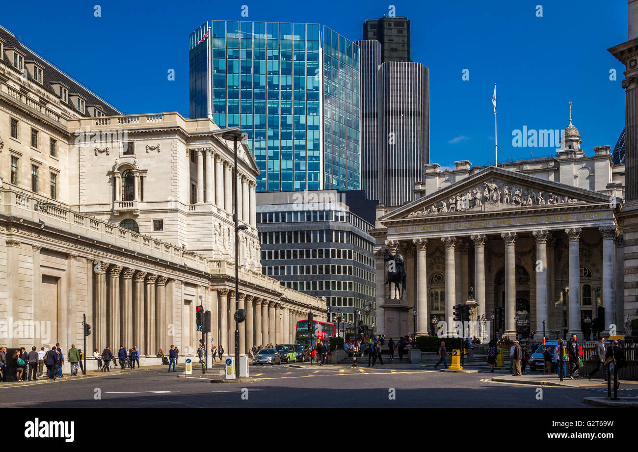 Bank Junction , The City Of London , London , UK - Stock Image