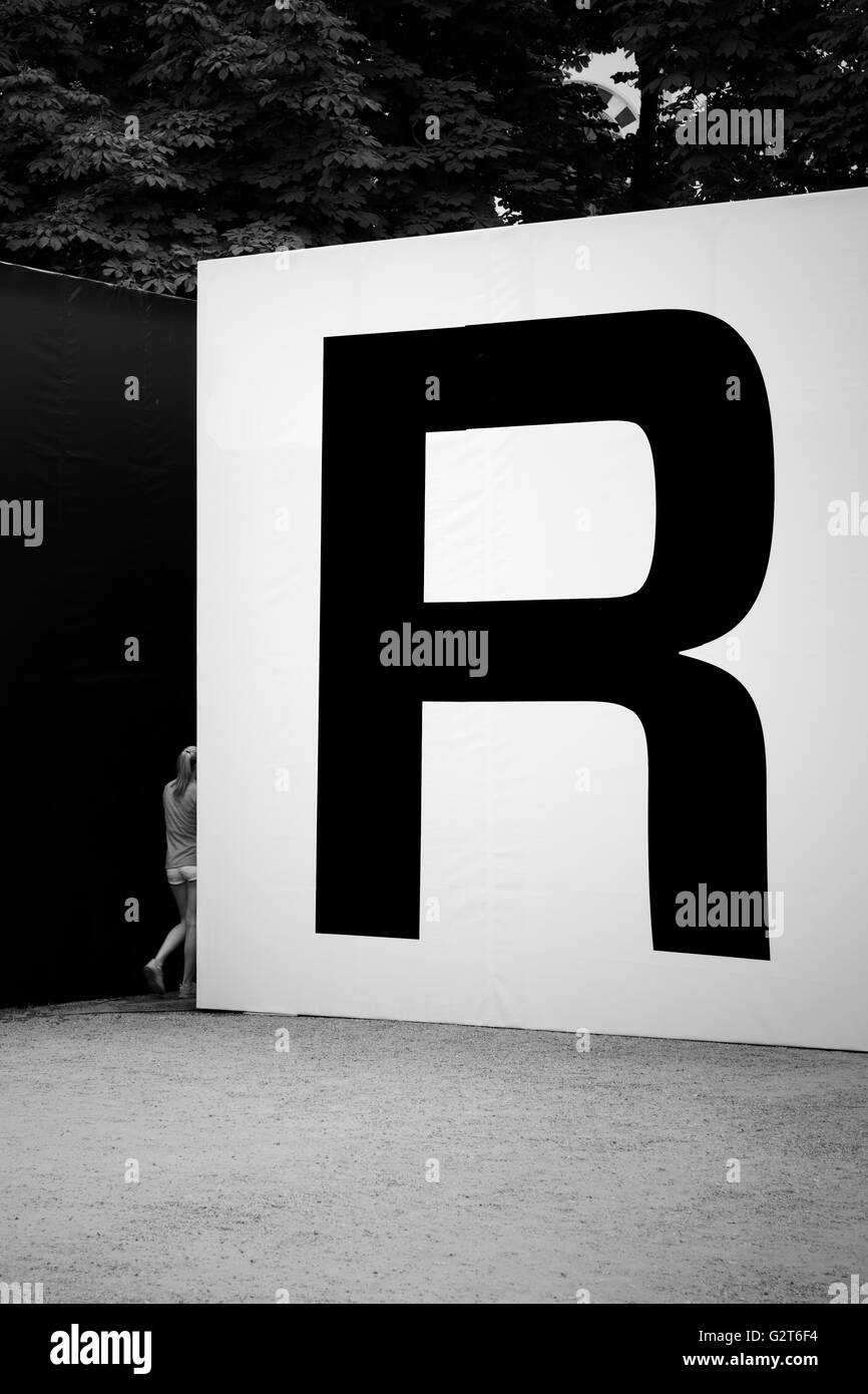 Big R letter - Stock Image
