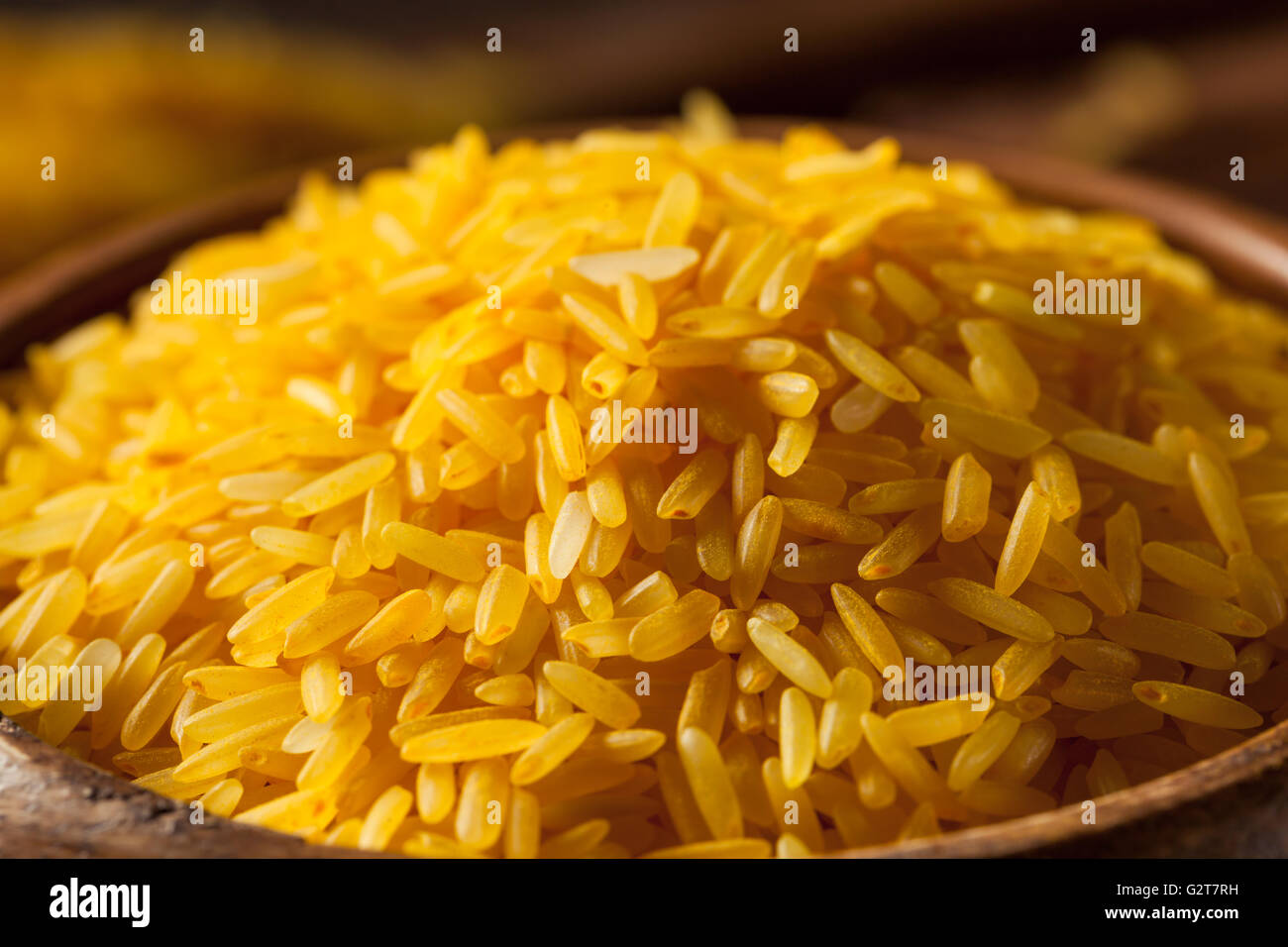 Raw Organic Yellow Saffron Rice High Resolution Stock Photography And Images Alamy
