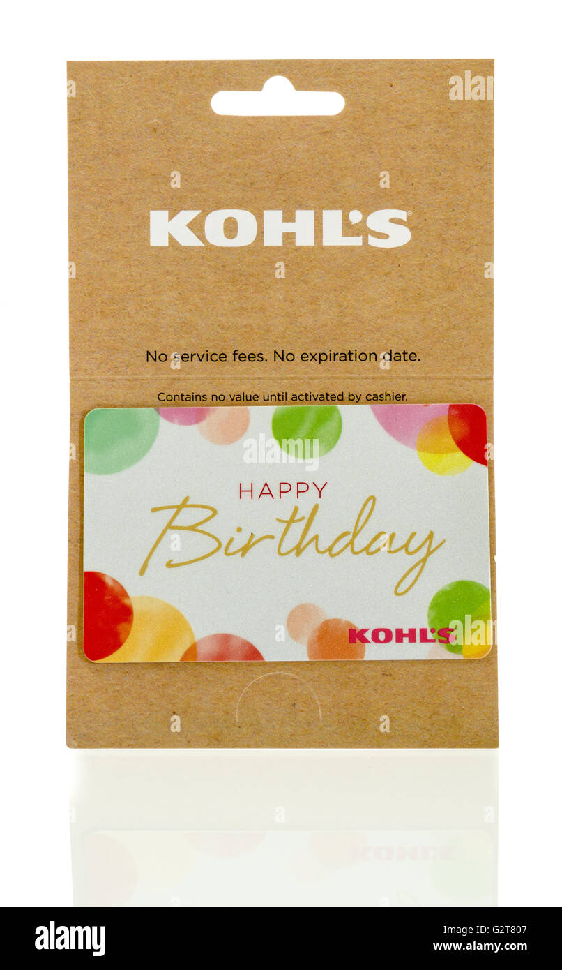 Winneconne, WI - 25 May 2016:  Kohls gift card on an isolated background - Stock Image