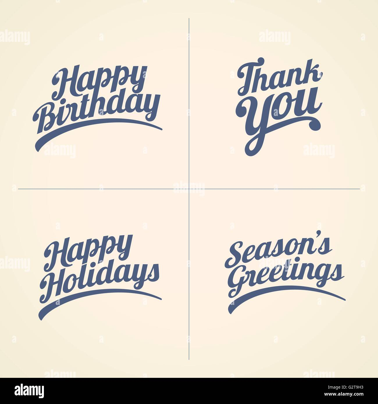 Vector happy birthday thank you happy holidays and seasons stock vector happy birthday thank you happy holidays and seasons greeting text set good wishes text collection m4hsunfo