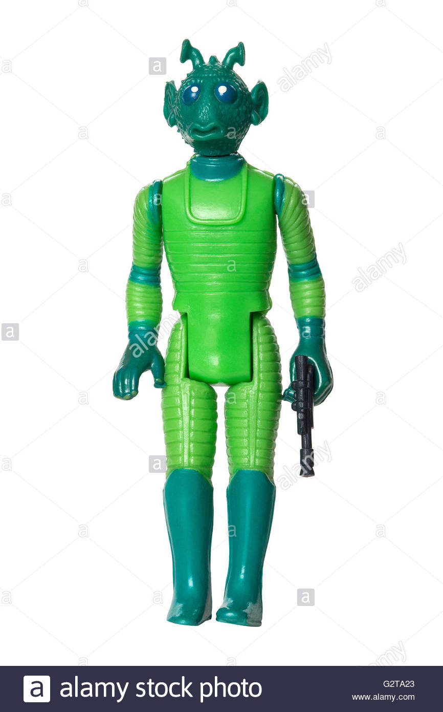 Original Star Wars action figure by Kenner : Greedo the bounty hunter (1978) - Stock Image