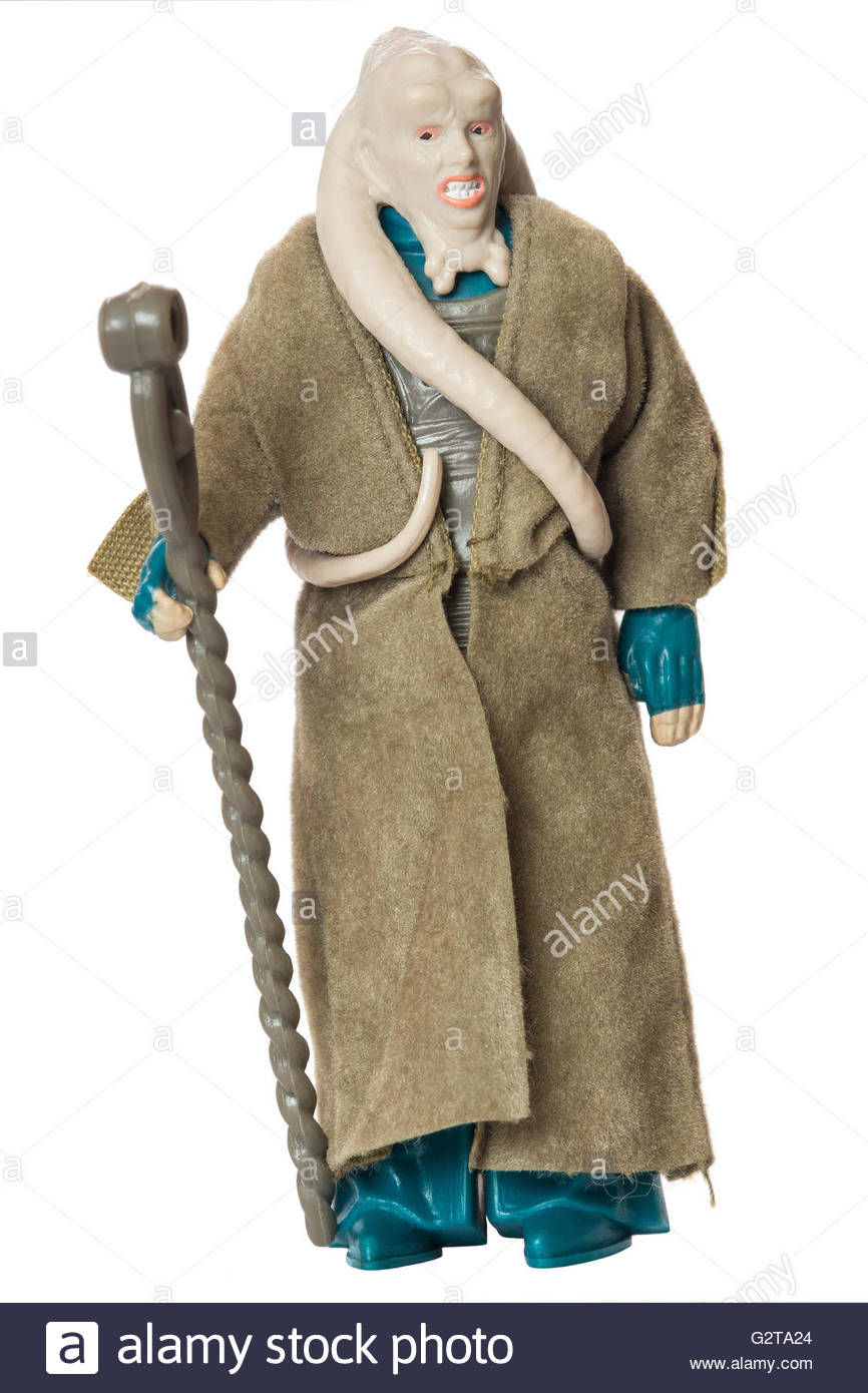 Original Star Wars action figure by Kenner : Bib Fortuna from Jabba's palace (1983) - Stock Image