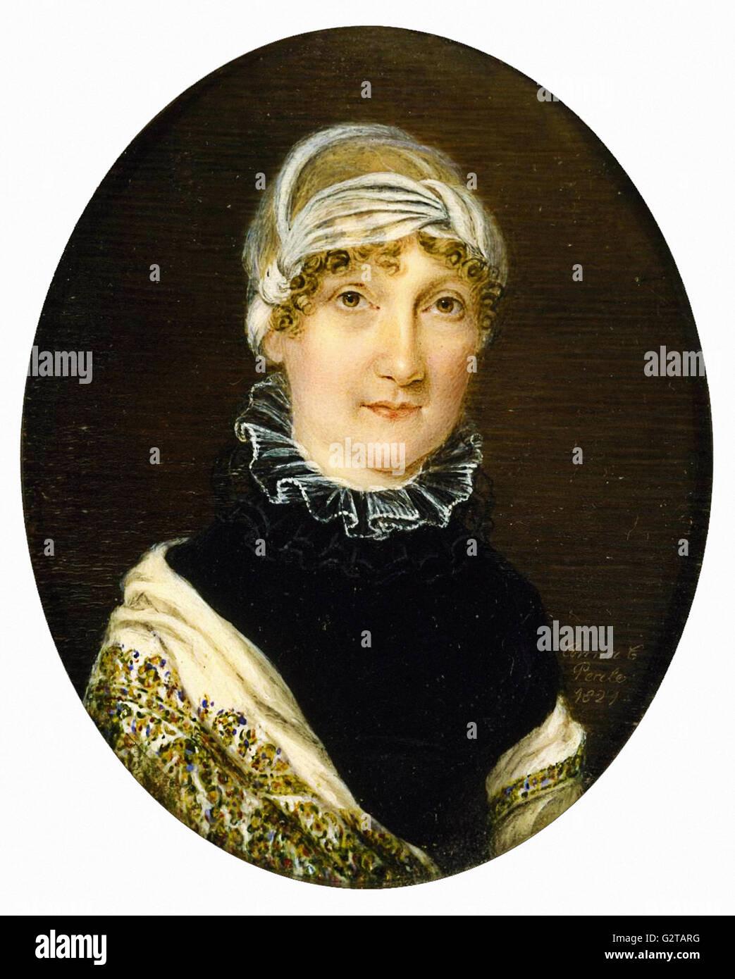 Anna Claypoole Peale - Portrait of Mrs. Jonathan Bates - - Stock Image