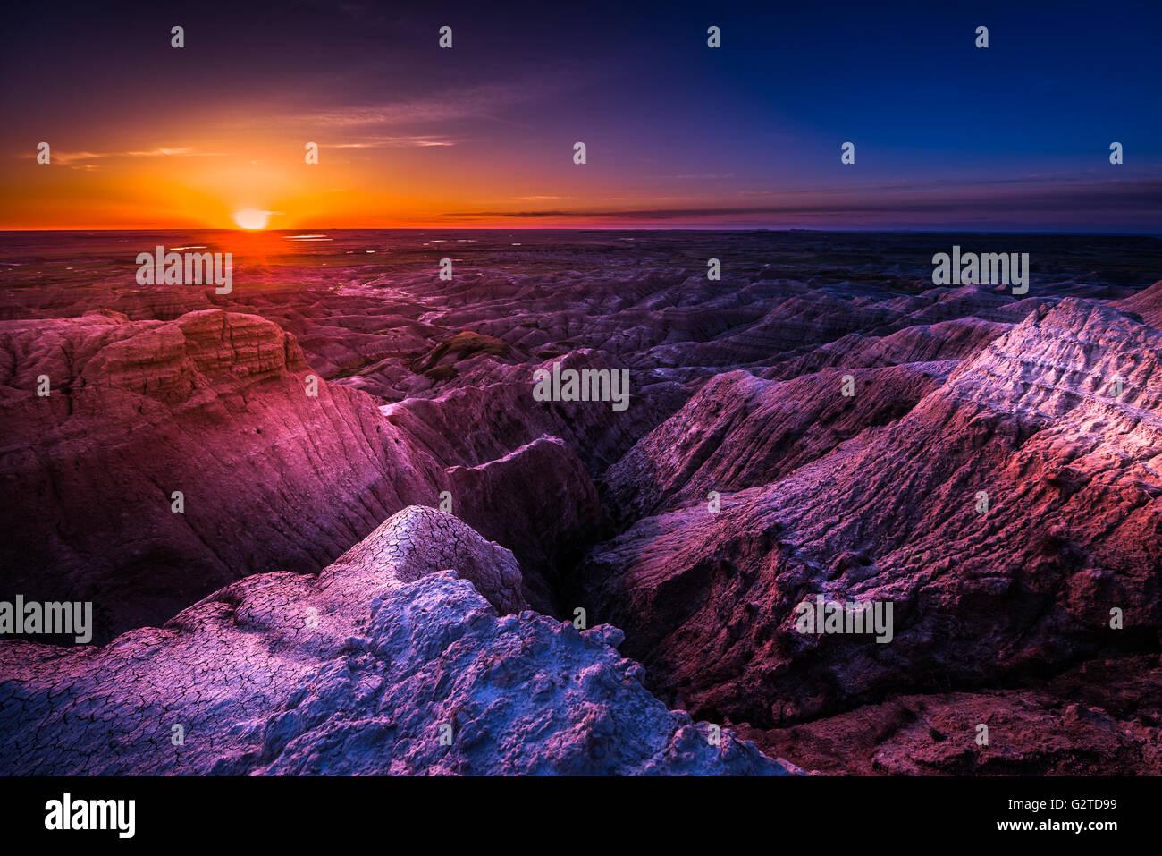 Badlands National Park South Dakota USA landscapes - Stock Image