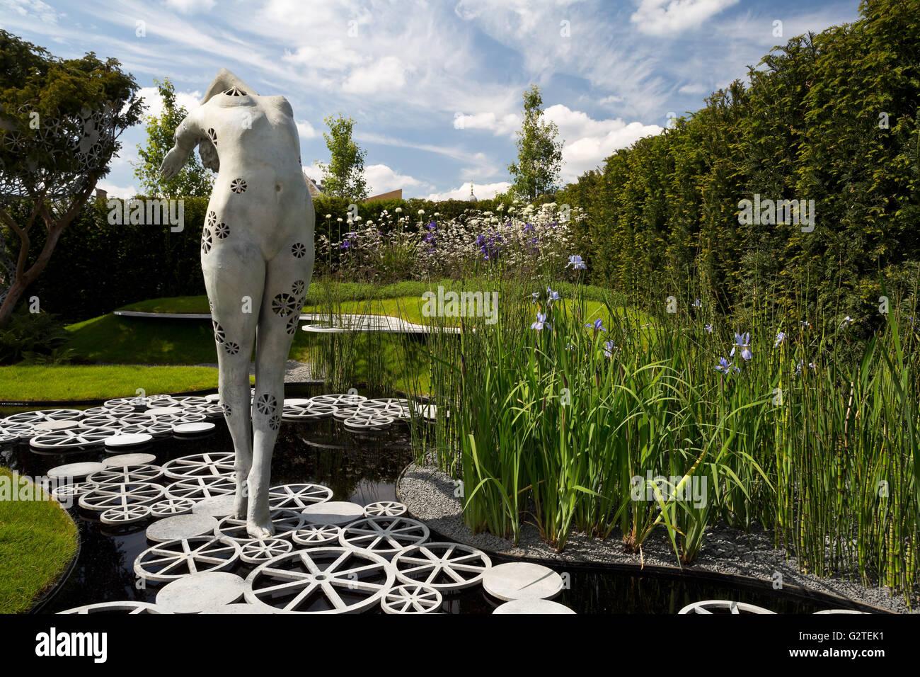 RHS Chelsea Flower Show 2016, The Imperial Garden – Revive, Fresh gardens silver medal winner, design Tatyana Goltsova - Stock Image