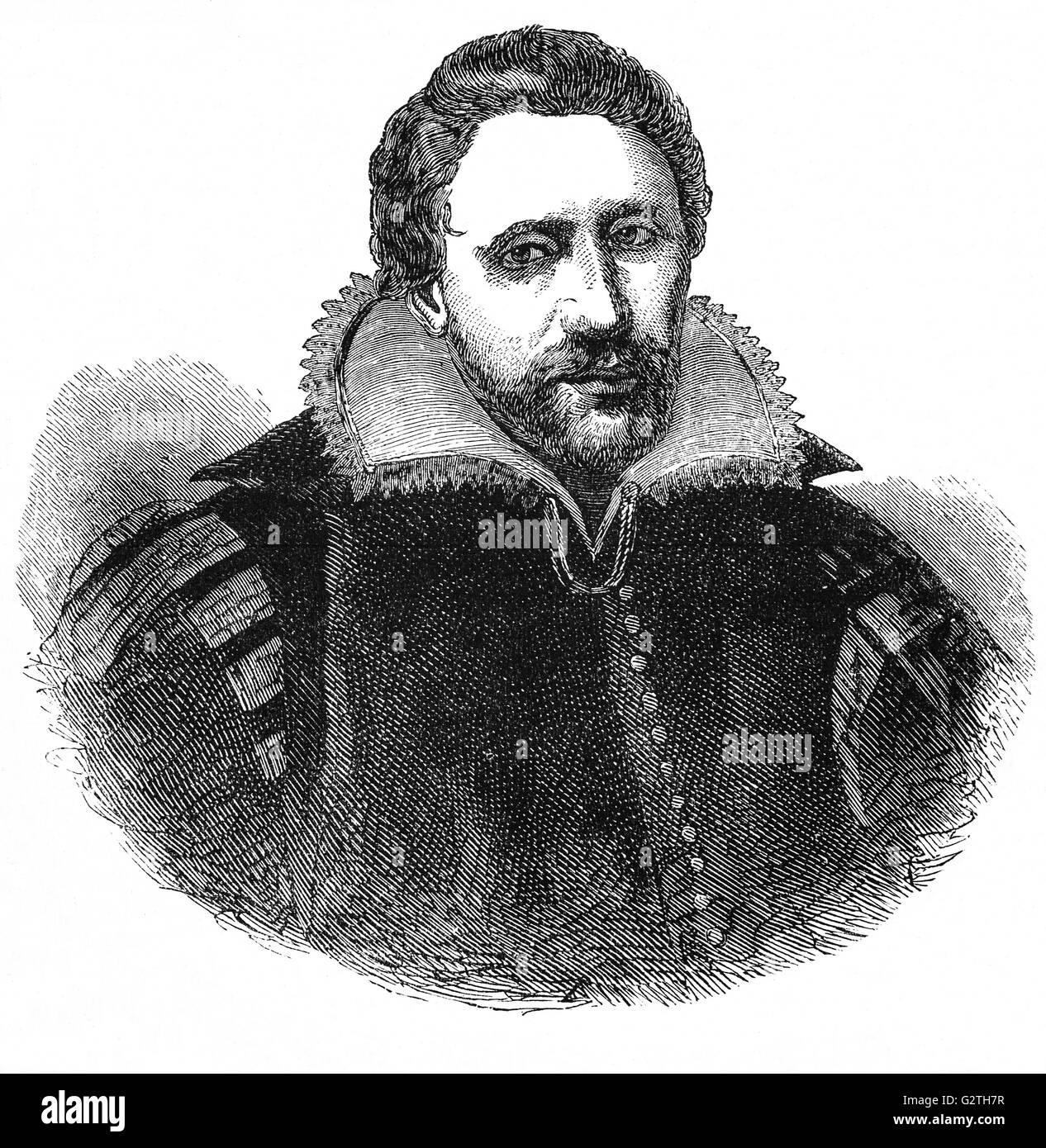 Benjamin 'Ben' Jonson, English Poet Laureate, playwright, actor and literary critic of the 17th century - Stock Image