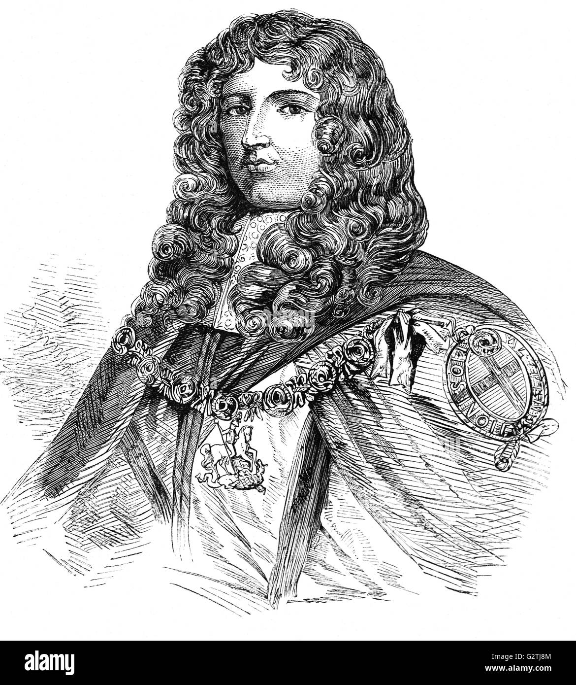 James FitzThomas Butler (1610 –1688) was an Anglo-Irish statesman and soldier, known as Earl of Ormond from 1634 - Stock Image