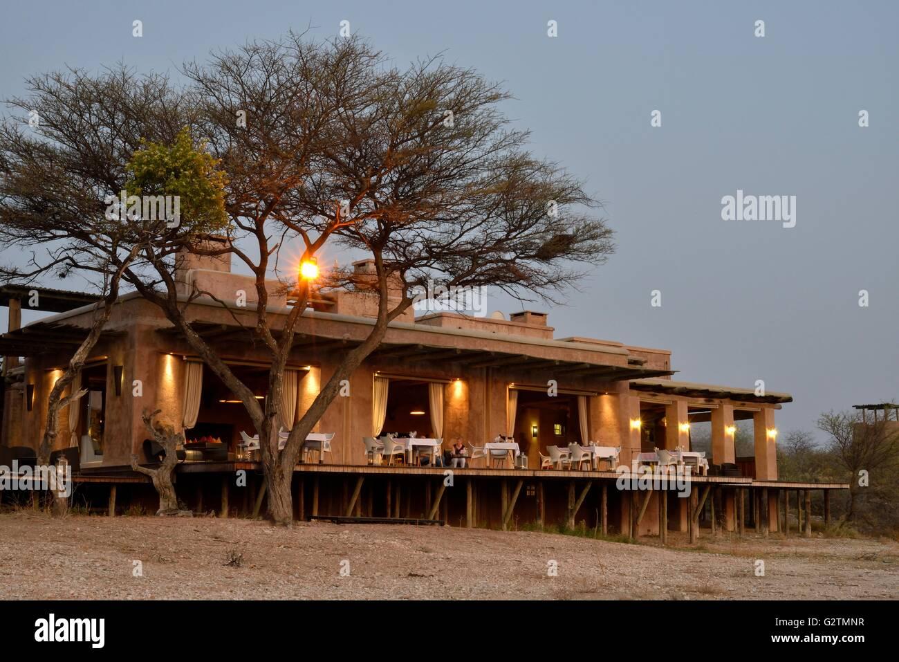 Onguma The Fort, Lodge near the Etosha National Park, Onguma Game Reserve, Namibia - Stock Image