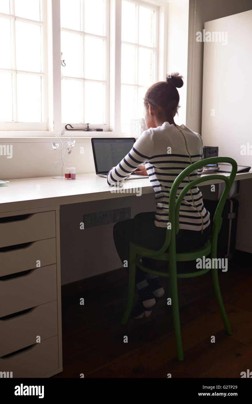 Teenage Girl Bedroom Desk High Resolution Stock Photography And Images Alamy