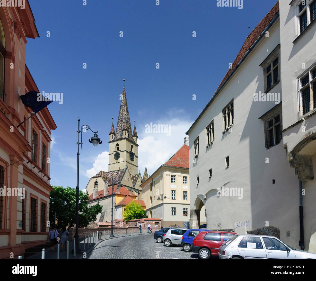 Evangelical Parish Church, Romania, Transilvania, Transylvania, Siebenbürgen (Transsilvanien) , Sibiu (Hermannstadt) - Stock Image