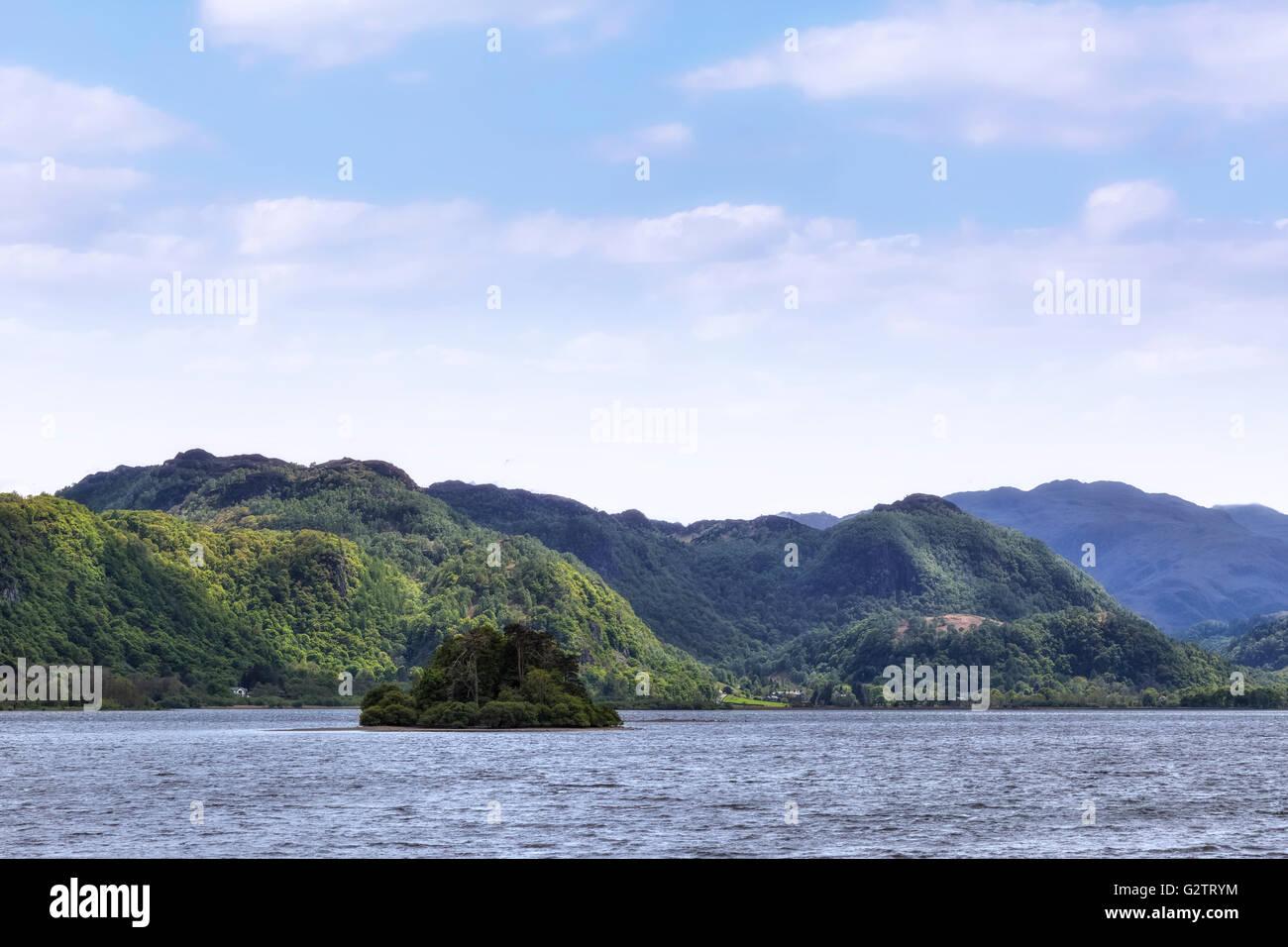 Keswick, Derwentwater, Lake District, Cumbria, England, UK - Stock Image