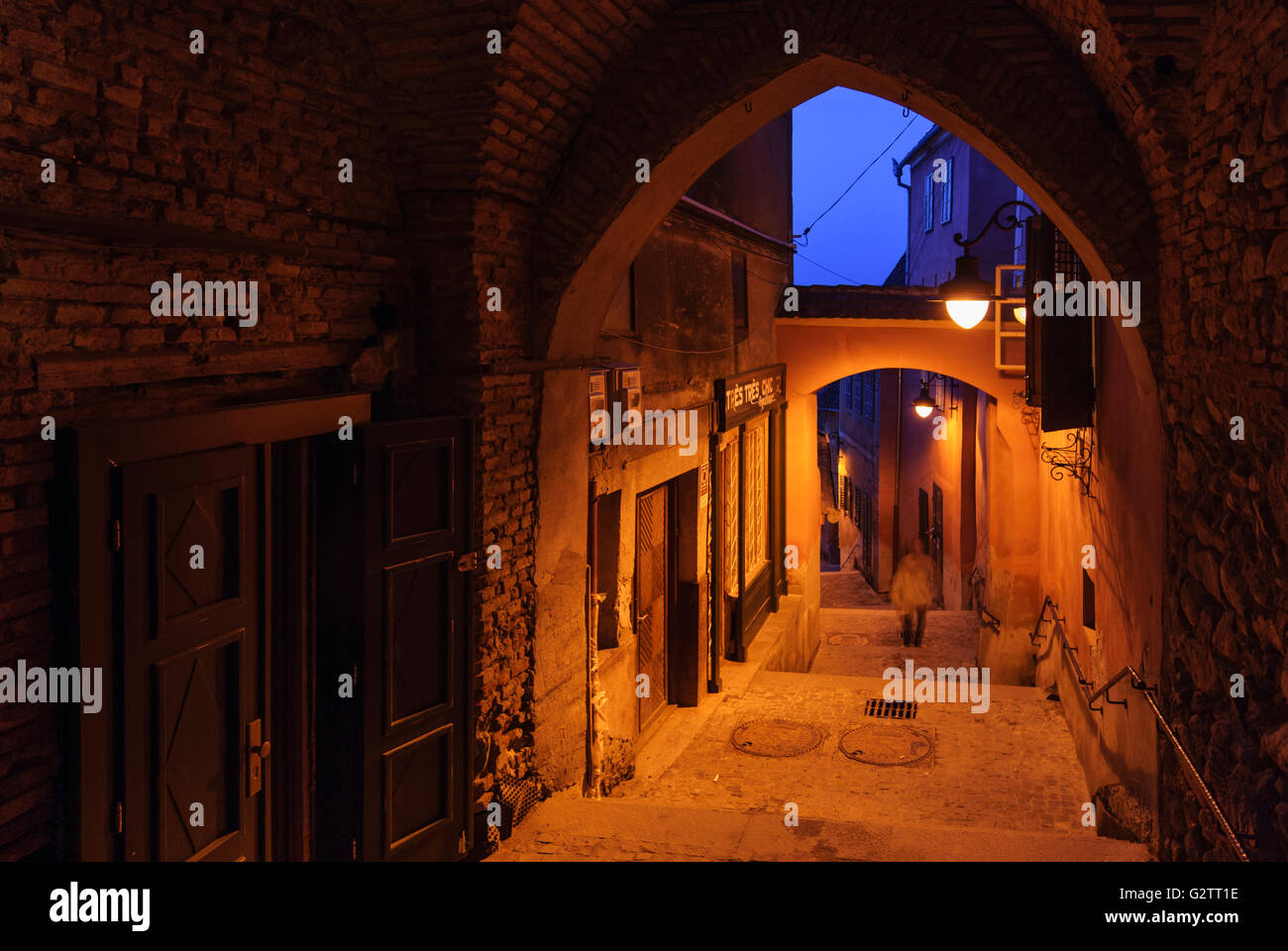 Fingerling staircase, Romania, Transilvania, Transylvania, Siebenbürgen (Transsilvanien) , Sibiu (Hermannstadt) - Stock Image