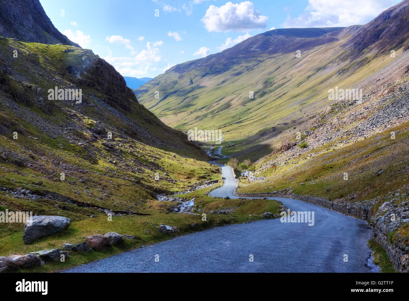 Honister Pass, Lake District, Cumbria, England, UK - Stock Image