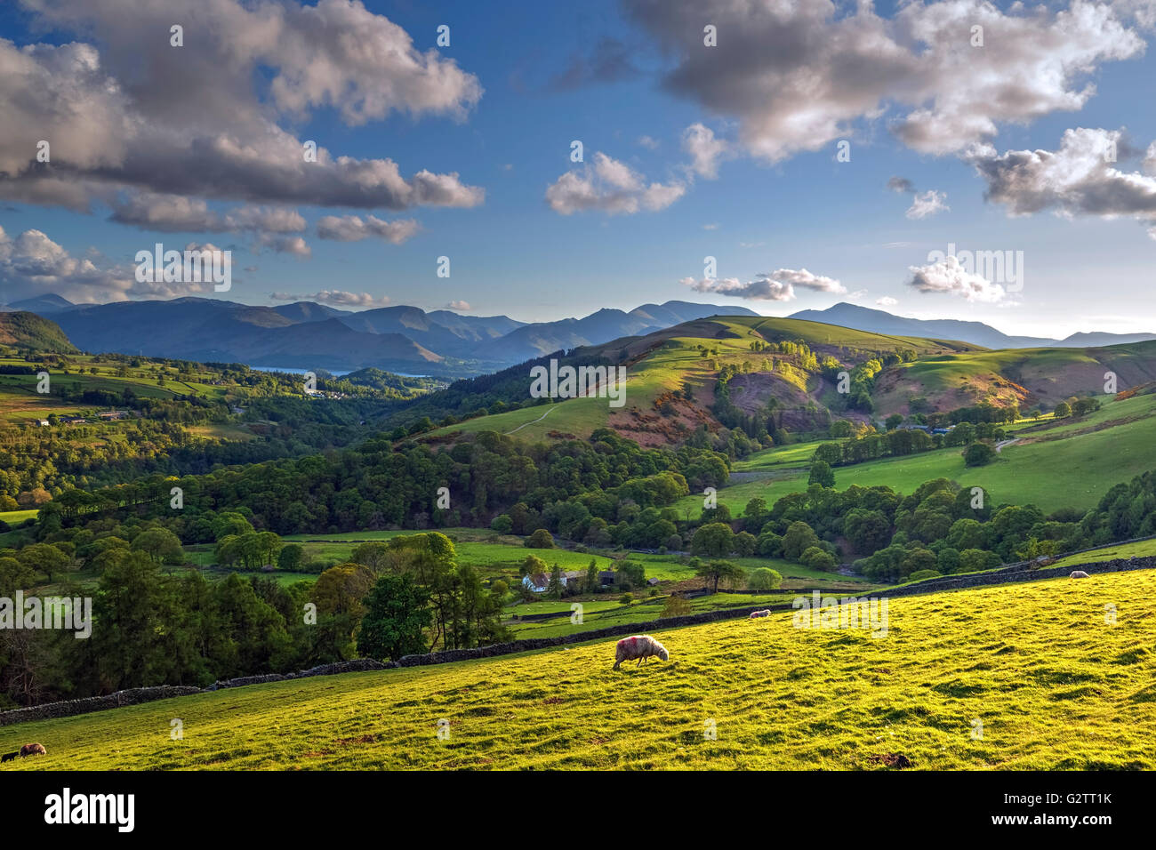 Keswick; Cumbria; Lake District; England; UK Stock Photo