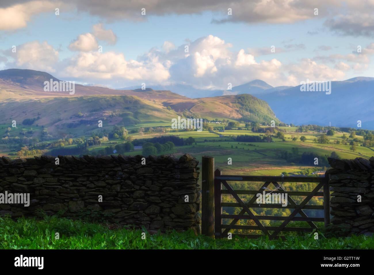 Keswick; Cumbria; Lake District; England; UK Stock Photo