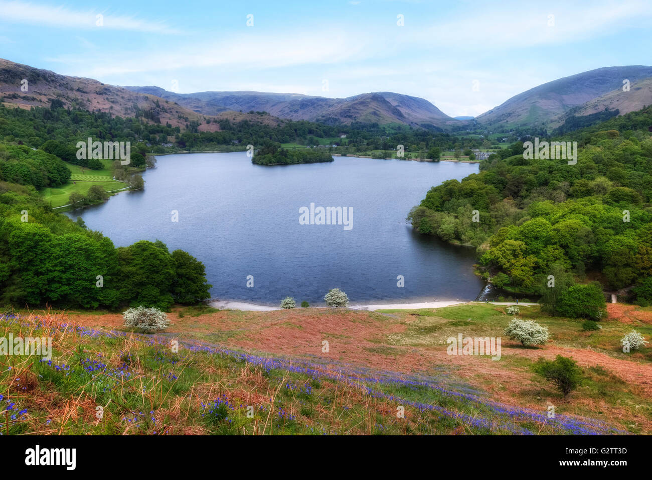 Grasmere, Loughrigg Terrace, Lake District, Cumbria, England, UK - Stock Image