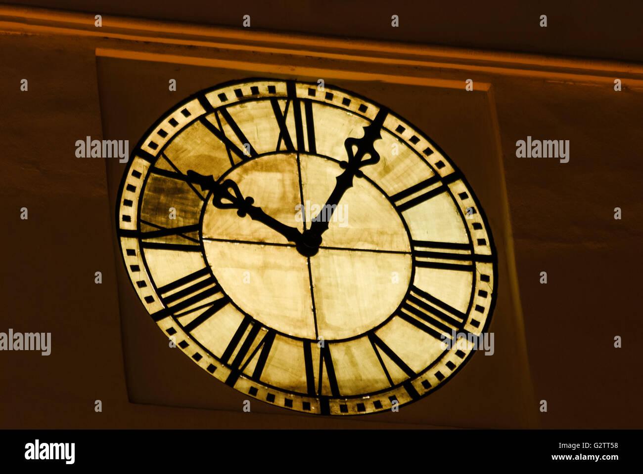 Council Tower clock, Romania, Transilvania, Transylvania, Siebenbürgen (Transsilvanien) , Sibiu (Hermannstadt) - Stock Image
