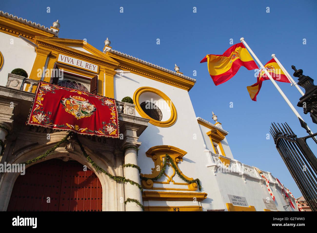 Spain, Andalucia, Seville, Plaza de Torres de la Real Maestranza de Caballeria. - Stock Image