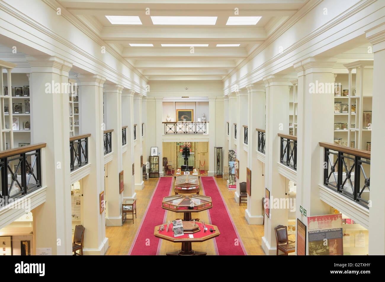 Scotland, Edinburgh, Surgeons Hall Museum, interior hall Stock Photo ...