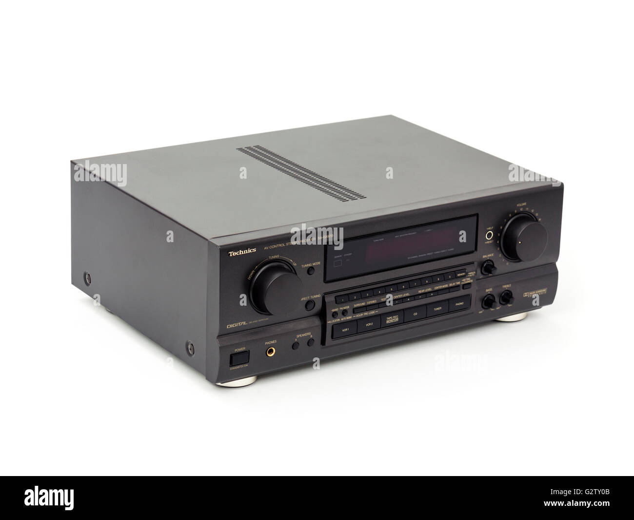 Technics SA-GX670 Stereo Receiver with AV (Surround Sound) capabilities from 1994 - Stock Image