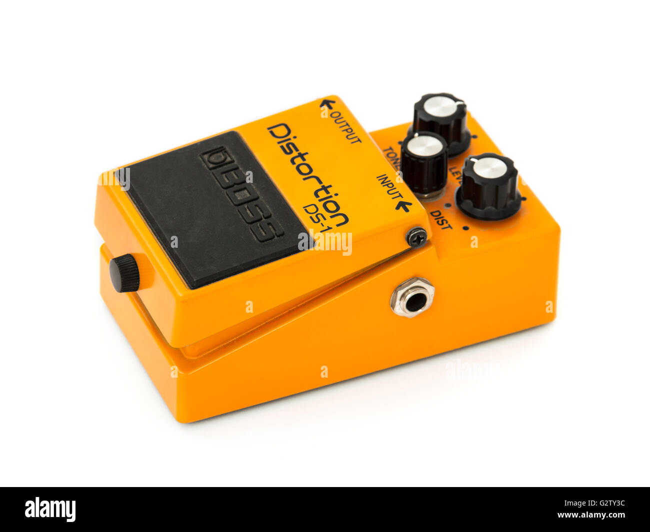 Boss DS-1 Distortion guitar effects pedal - Stock Image