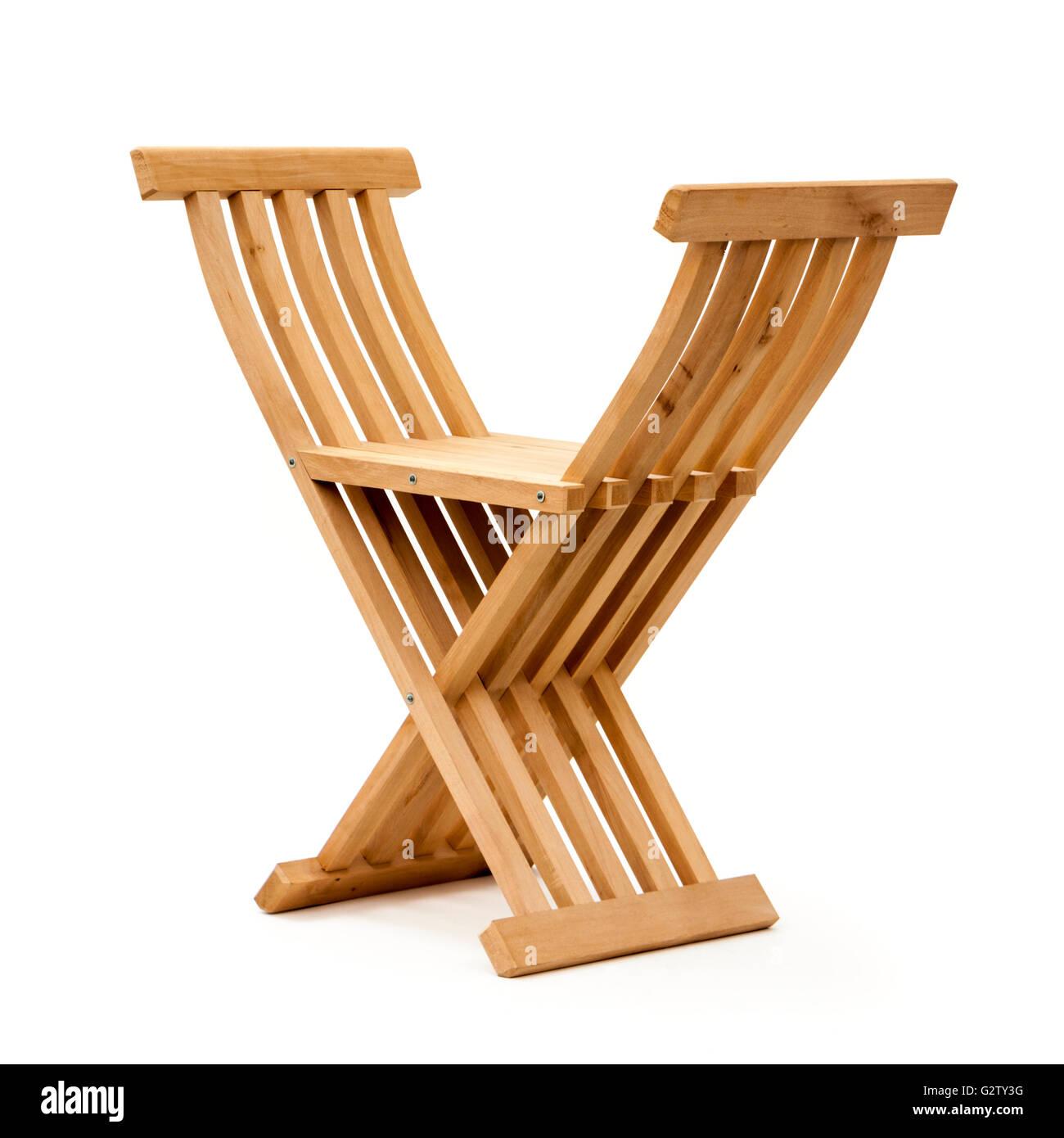 Modern Folding Wooden Space Saving Chair   Stock Image