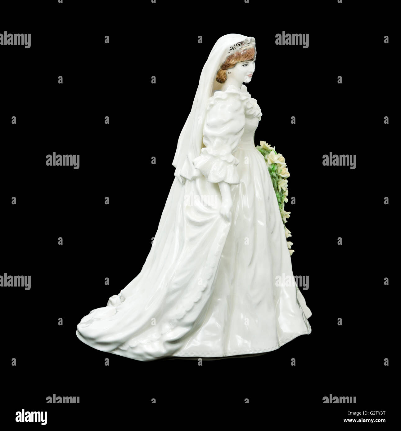 Hrh Princess Diana Of Wales In Her Wedding Dress A Porcelain