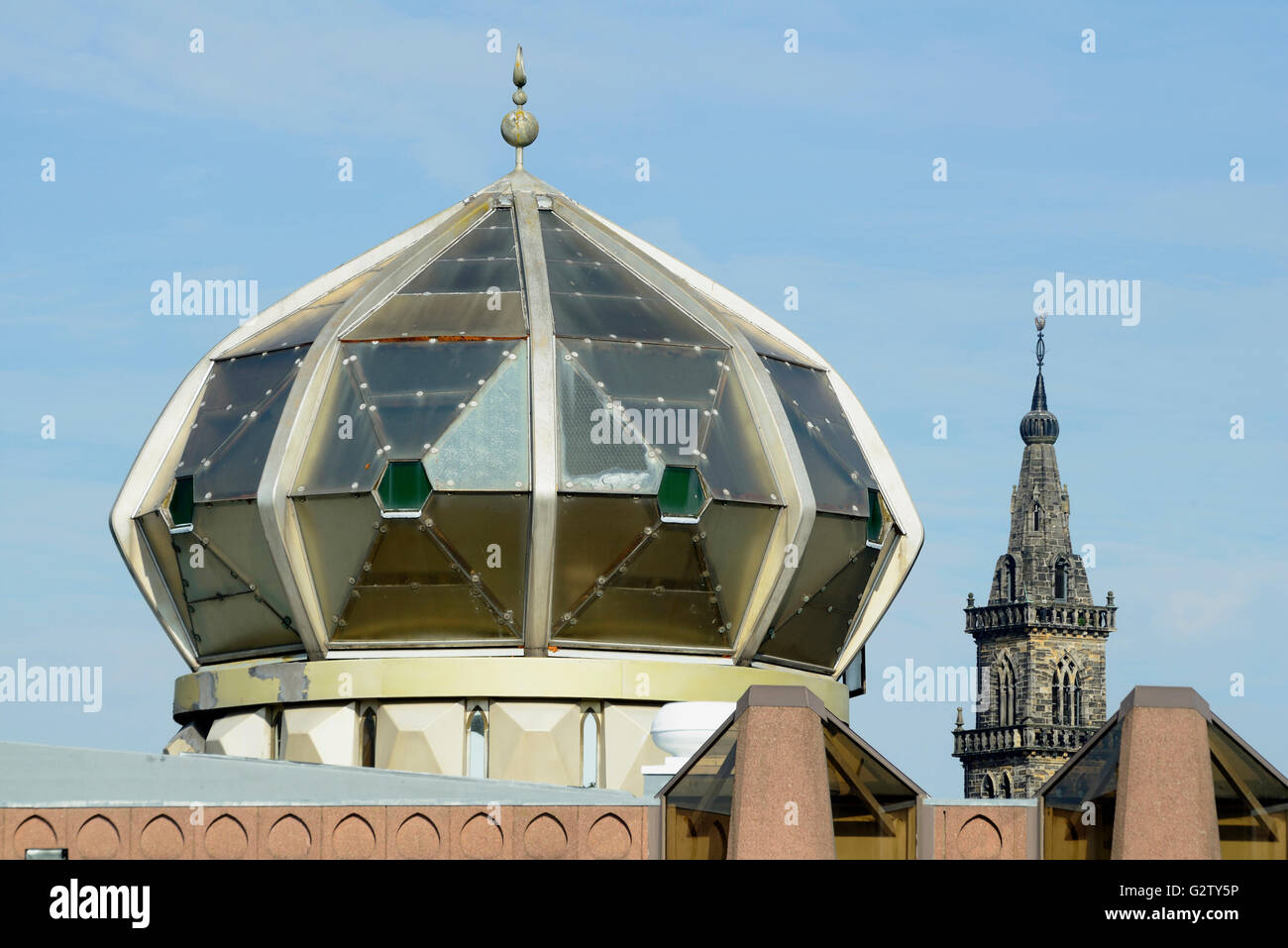 Scotland, Glasgow, East End, Central Mosque. - Stock Image