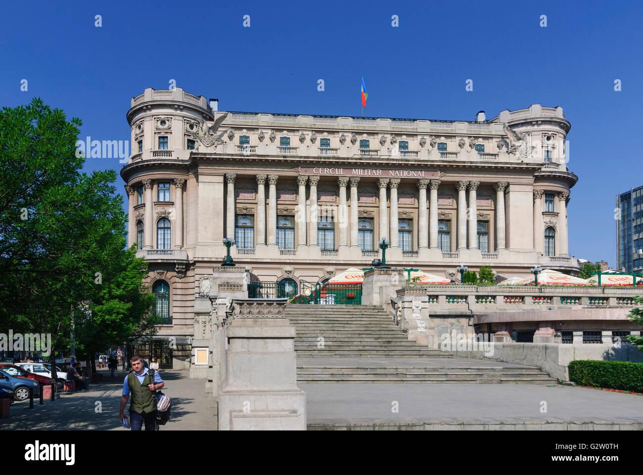 Cercul Militar National (officers mess), Romania, Valahia, Wallachia, Walachia, Walachei , Bucuresti, Bucharest, - Stock Image