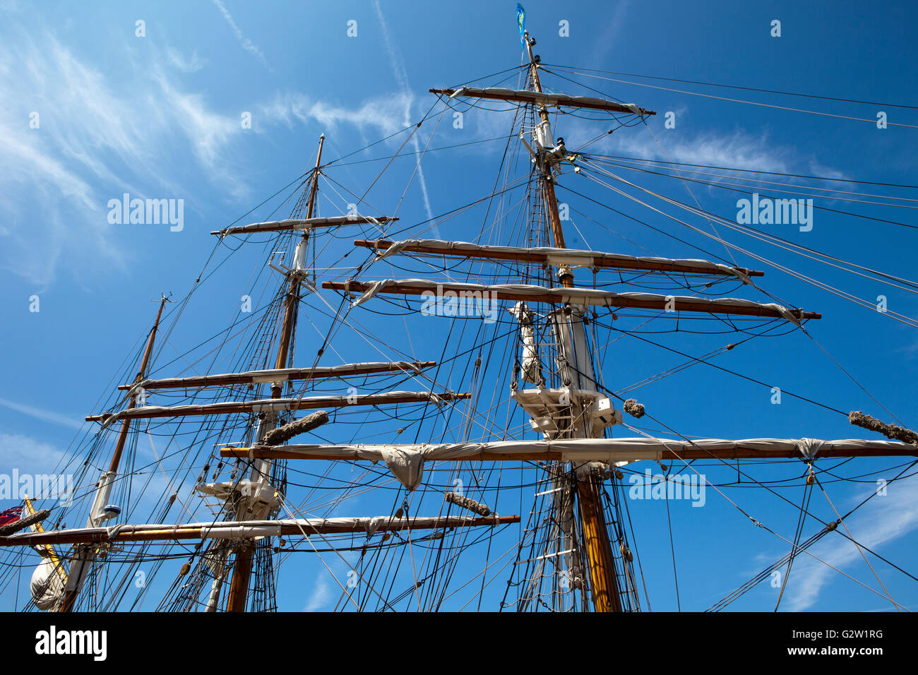 Tall ships on display at the International Mersey River Festival 2016 - Stock Image