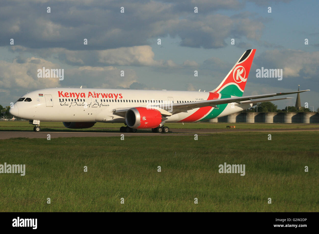 KENYA KENYAN AIRWAYS 787 DREAMLINER Stock Photo